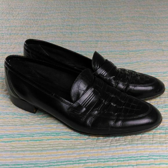 Florsheim Black Shoes Mens 10 D Leather Wingtip Brogue Tassel Kiltie Loafers